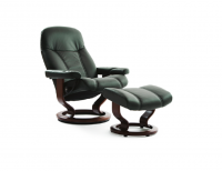 Ekornes Stressless Consul Recliner and Ottoman