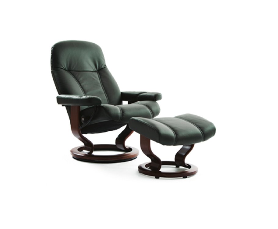 ekornes stressless consul recliner and ottoman decorum. Black Bedroom Furniture Sets. Home Design Ideas