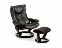 Ekornes Stressless Eagle Recliner and Ottoman