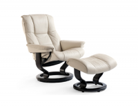 Ekornes Stressless Mayfair Recliner and Ottoman