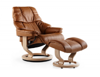 Ekornes Stressless Reno Recliner and Ottoman