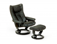 Stressless Wing Recliner and Ottoman
