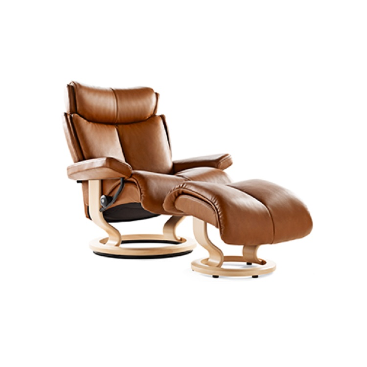 ... Furniture / Living Room Recliners / Stressless Magic Chair and Ottoman