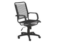Euro Style Bradley Bungie Desk Chair Black