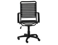 Euro Style Bungie High Back Desk Chair - Black