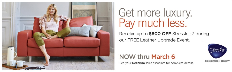 Stressless Leather Upgrade at Decorum