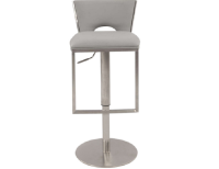 Chintaly Low Back Upholstered Pneumatic Gas Lift Adjustable Height Bar Stool
