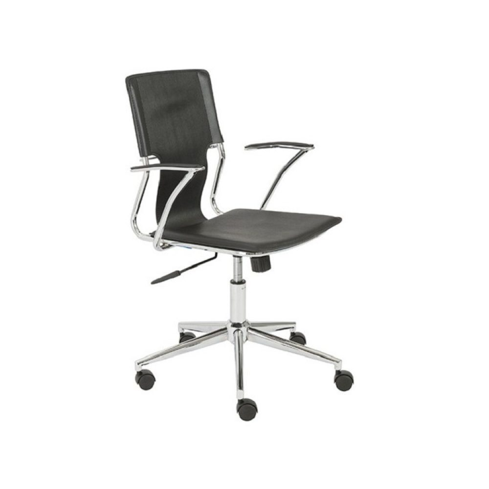Euro Style Terry Office Chair   Black